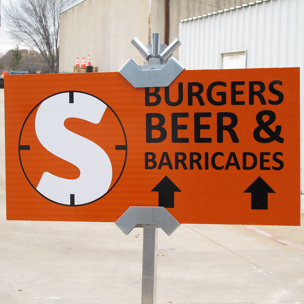 Signs from Site Barricades Custom Sign Shop