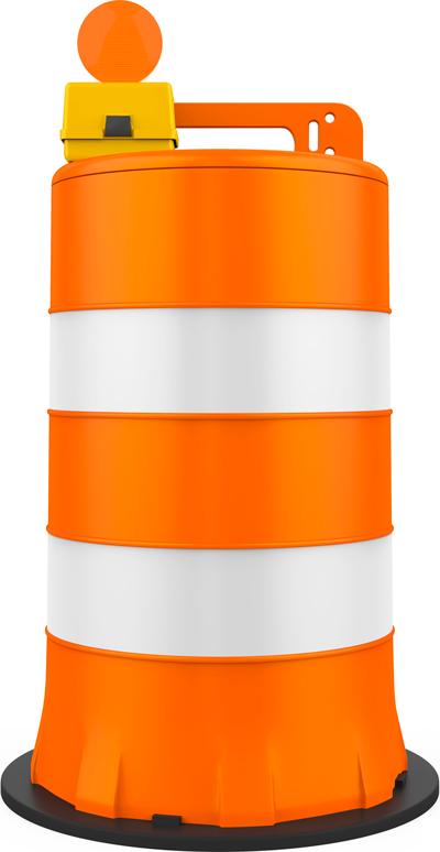 Traffic Barrel Site Barricades